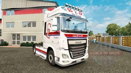 La Piel Chr.Lund tractora DAF para Euro Truck Simulator 2