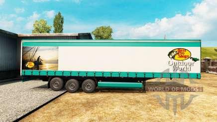 La piel de Bass Pro Shops para un semi-remolque para Euro Truck Simulator 2