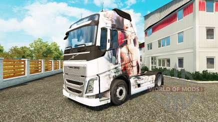 La piel Artística Chica en Volvo trucks para Euro Truck Simulator 2