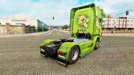 La piel de la Rana René en el tractor Scania para Euro Truck Simulator 2