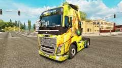 De la Muchacha de flor de la piel para camiones