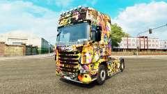 El Graffiti de la piel para Scania camión