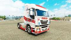 La piel de Luis López en el camión Iveco