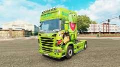La piel de la Rana René en el tractor Scania