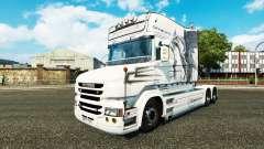 Dragón blanco de la piel para camión Scania T