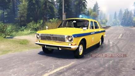 GAZ-24 Volga Policía para Spin Tires
