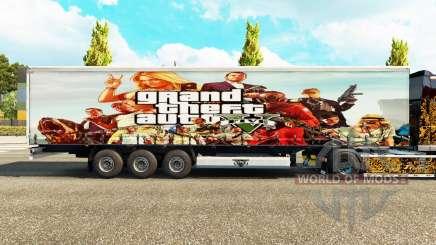 La piel de GTA V trailer para Euro Truck Simulator 2