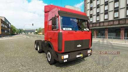 MAZ-5432 v5.0.1 para Euro Truck Simulator 2
