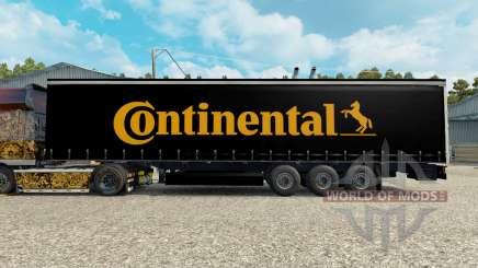 La piel Contiential en el remolque para Euro Truck Simulator 2