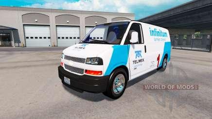La piel de Telmex en el tractor Chevrolet Express 3500 para American Truck Simulator