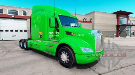 Boyd Transporte de la piel para el camión Peterbilt 579 para American Truck Simulator