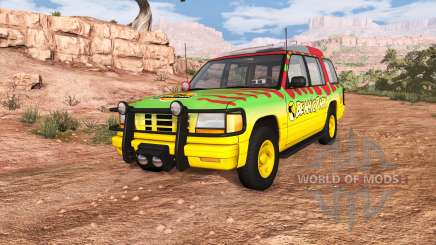 Gavril Roamer Tour Car Jurassic Park v0.7 para BeamNG Drive