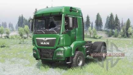 MAN TGS 18.440 4x4 green v1.3 para Spin Tires