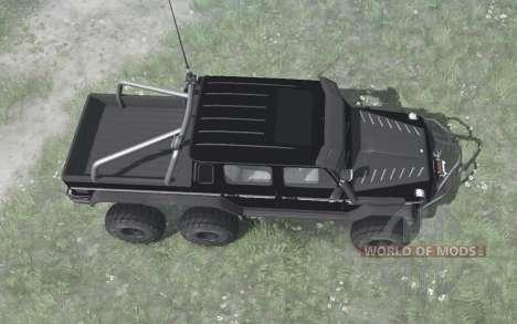 Mercedes-Benz G 63 AMG 6x6 (W463) 2013 black para Spintires MudRunner