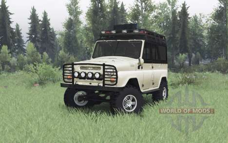 UAZ 469 beige v1.1 para Spin Tires