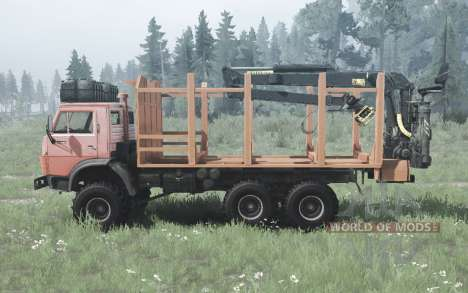 KamAZ 4310 6x6 suave-rojo para Spintires MudRunner
