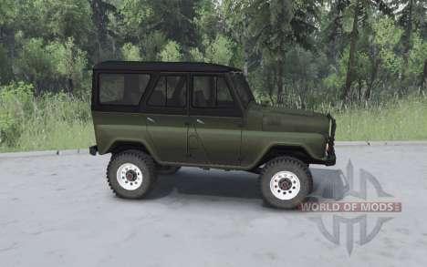 UAZ 469 de color caqui para Spin Tires