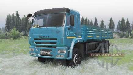 KamAZ 65117 azul oscuro para Spin Tires