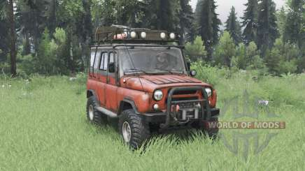 UAZ 31514 moderadamente rojo para Spin Tires