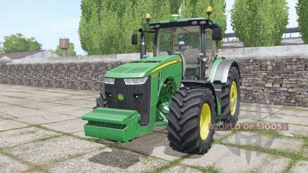John Deere 8320R with weights para Farming Simulator 2017