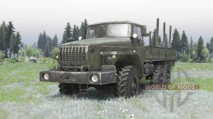 Ural 4320-41 de color gris oscuro-verde para Spin Tires