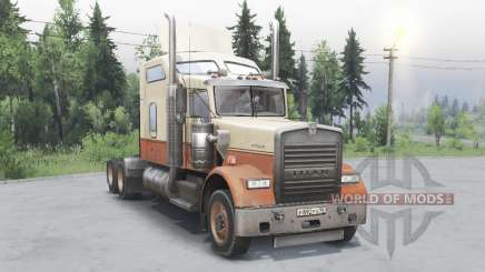 Kenworth W900 timber truck para Spin Tires
