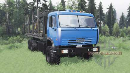 KamAZ 43118 largo de la base de v1.1 para Spin Tires