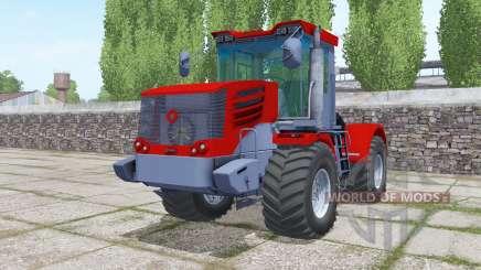 Kirovets K-744Р4 de color rojo brillante para Farming Simulator 2017