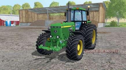 John Deere 4455 twin wheels para Farming Simulator 2015