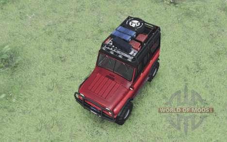 UAZ 469 rojo v1.1 para Spin Tires