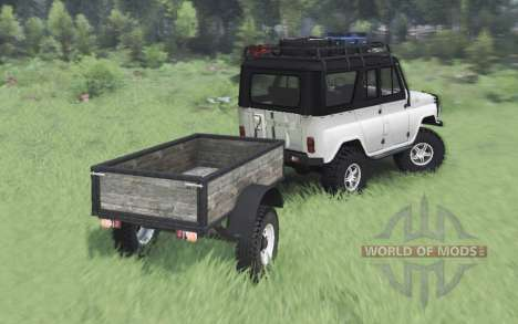 UAZ 469 blanco v1.1 para Spin Tires