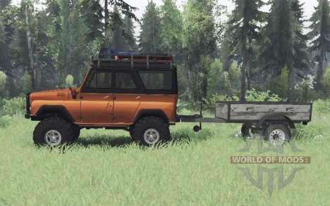 UAZ 469 naranja v1.1 para Spin Tires