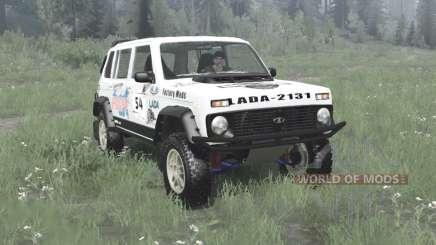 Lada Niva (2131) 1995 Rally v1.1 para MudRunner