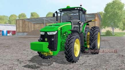 John Deere 8370R double wheels para Farming Simulator 2015