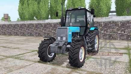 MTZ 820.2 Belarús azul brillante para Farming Simulator 2017