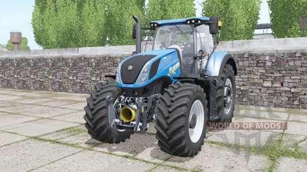 New Holland T7.290 Heavy Duty bright blue para Farming Simulator 2017