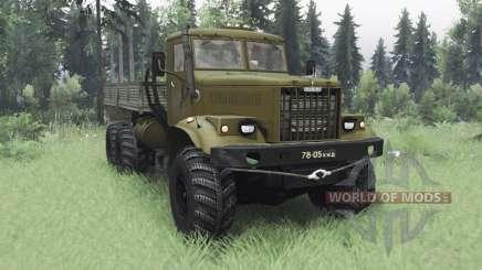 KrAZ 255B de oliva v1.1 para Spin Tires