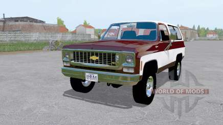 Chevrolet K5 Blazer 1973 dark desaturated pink para Farming Simulator 2017