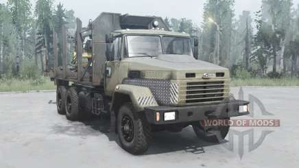 KrAZ 6322 oscuro-gris-amarillo para MudRunner