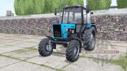 MTZ 82.1 azul brillante para Farming Simulator 2017