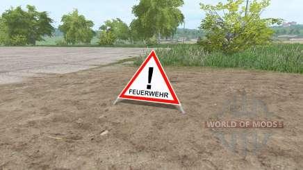 Warning Sign para Farming Simulator 2017