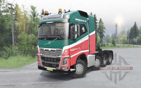 Volvo FH16 750 8x4 tractor Globetrotter cab para Spin Tires