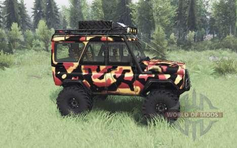UAZ 31514 Tundra para Spin Tires