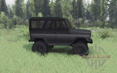 UAZ 469 gris oscuro v1.1 para Spin Tires