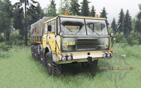 Tatra T813 TP 8x8 1967 invierno v1.6 para Spin Tires