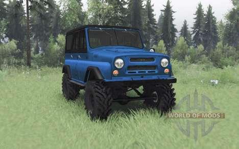 UAZ 469 v1 azul.1 para Spin Tires