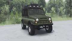 UAZ 469 caqui v1.1 para Spin Tires