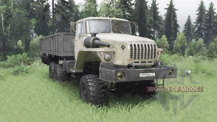 Ural 4320-1912-40 gris-amarillo v1.2 para Spin Tires