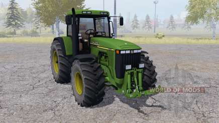 John Deere 8410 dual rear wheels para Farming Simulator 2013