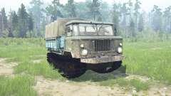 GAZ 66 caterpillar